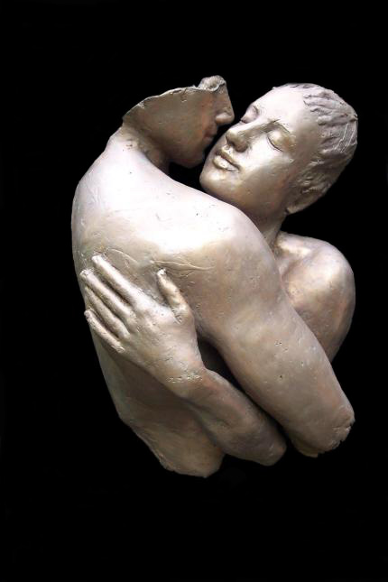 Stolen Moments, Mike Sherrer-Triny Cline /Bronze Sculpture #artpeople