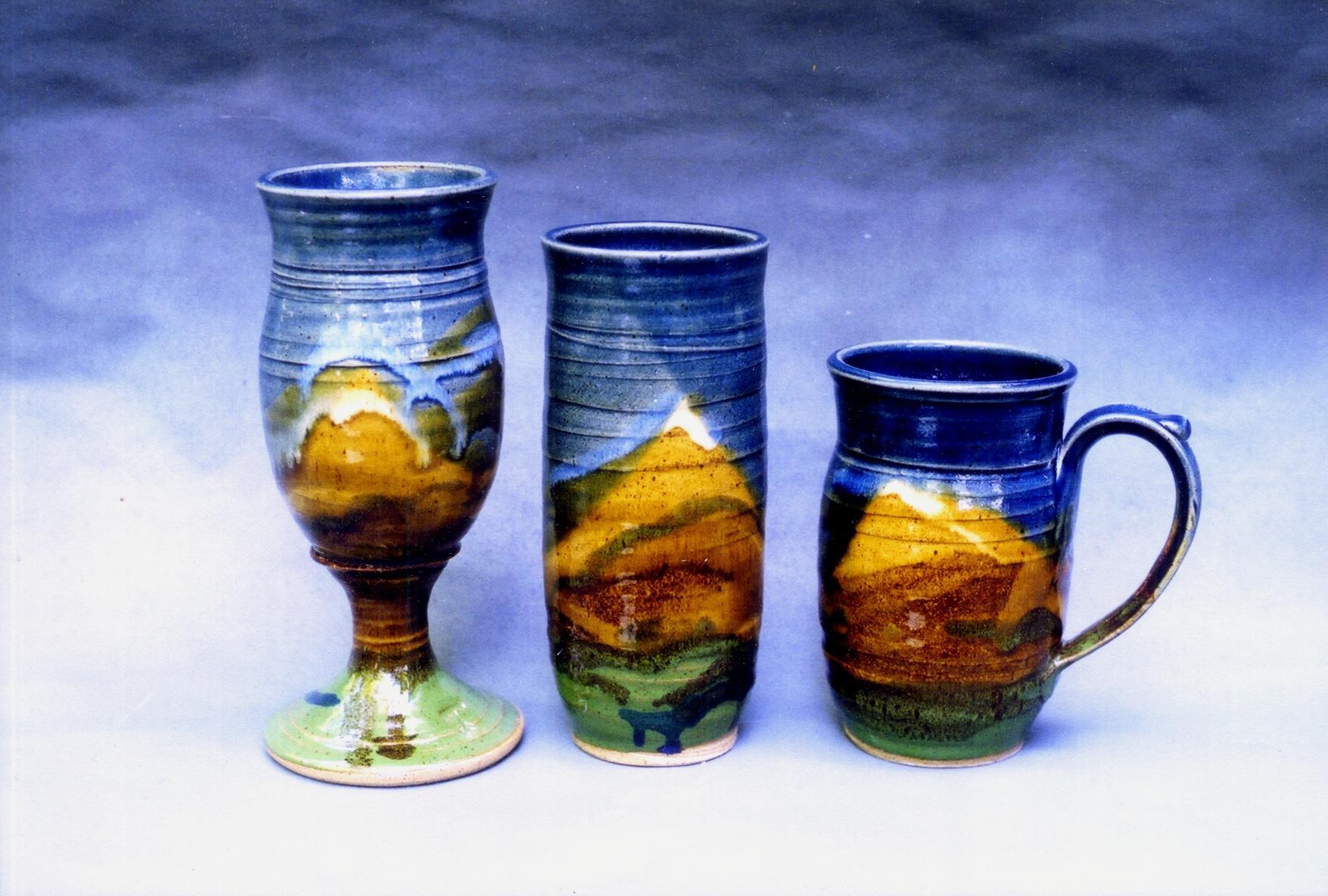 Blue Drinking Vessels